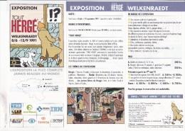 TINTIN : Dépliant Exposition TOUT HERGE - 1991  - FR / NL - Books, Magazines, Comics
