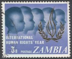Zambia. 1968 Human Rights Year. 3n Used. SG 142 - Zambia (1965-...)