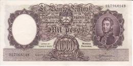 BILLETE DE ARGENTINA DE 1000 PESOS AÑOS 1955 A 1965 EN CALIDAD EBC (XF)  (BANKNOTE) DIFERENTES FIRMAS (BARCO-SHIP) - Argentina