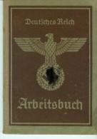 Deutsches Reich -Arbeitsbuch - 1937 - 1943 - Viele Eintragungen -Original - 1939-45