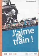 """TINTIN : Dépliant """"J´aime Le Train """" - 2007 - Books, Magazines, Comics"""