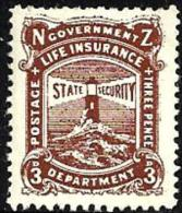 NEW ZEALAND BROWN  3 PENCE LIGHTHOUSE LIFE INSURANCE OUT OF SET OF ? MINT 1950's SG? READ DESCRIPTION !! - Nouvelle-Zélande