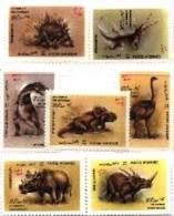 Afghanistan  Dinosaur Set Of 7 -#1279-85 - Afghanistan