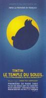 """TINTIN : Dépliant """"Tintin Et Le Temple Du Soleil"""" - Francais Et Néérlandais + Autocollant (20cmx15cm) - Books, Magazines, Comics"""