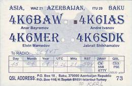 QSL Cards- AK 65821 Azerbaijan - Baku - Radio Amateur
