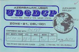 QSL-CARDS - AK 90582 USSR - Azerbaijan - Baku - Radio Amateur
