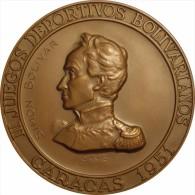VENEZUELA. MEDALLA III JUEGOS BOLIVARIANOS. CARACAS. 1.951. MODULO 90 Mm - Profesionales / De Sociedad