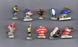 Série Complète 10 Fèves RUGBY Filets OR - Sports