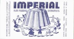 -BUVARD -  Flan Pudding Impérial état LUXE - Food