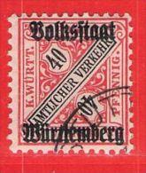 MiNr.268 O Altdeutschland  Württemberg Dienstmarken - Wurttemberg