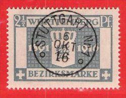 MiNr.123 O Altdeutschland  Württemberg Dienstmarken - Wurttemberg