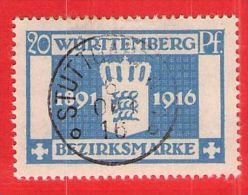 MiNr.127 O Altdeutschland  Württemberg Dienstmarken - Wurttemberg