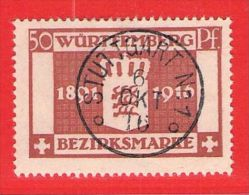 MiNr.129 O Altdeutschland  Württemberg Dienstmarken - Wurttemberg