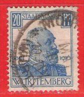 MiNr.245 O Altdeutschland  Württemberg Dienstmarken - Wurttemberg