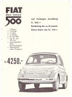 Werbung / Reklame - Fiat 500 , 1961 , Automobile , Anzeige !!! - Cars