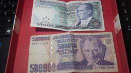 Turquie - 10.000 LIRASI Et 500 000 Lirasi - Turquie