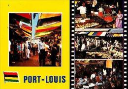 Port Louis       H12       4 Vues.Marché De Port Louis - Mauritius