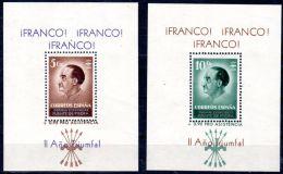 """Pro Asistencia, Espagne Guerre Civil, """"FRANCO, Année De Triomphe !, 2 Blocs, Neuf **, Lot 44695 - Emissions Nationalistes"""