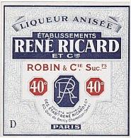 ETIQUETTE - APERITIF - RICARD - ROBIN - LIQUEUR ANISEE . - Etiquettes