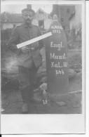15/10/1915 La Bassée Nord Soldat Allemand Devant Un Obus Anglais Peint De 380mm Artillerie De Marine Carte Photo Ww1 Wk1 - War, Military