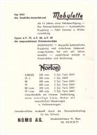 Werbung / Reklame - NORTON , Mobylette , NOMO AG In Bern , 1961 , Motorrad , Anzeige !!! - Motos