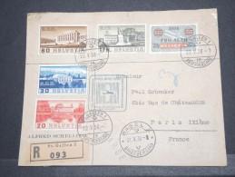 SUISSE - Env Recommandée Et Chargée Pour Paris Affranchie Avec Soin - Mai 1938 - Jolie - P16894