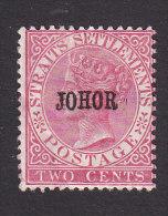 Johore, Scott #7, Mint Hinged, Queen Victoria Overprinted, Issued 1884 - Johore