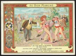 Chromo Magasin AU BON MARCHE - Les Cinq Sous De Lavarède - Au Bon Marché