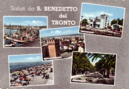 Cartolina ITALIA MARCHE SALUTI DA SAN BENEDETTO DEL TRONTO Italy Postcard Italie Carte Postale Italien Ansichtskarte - Ascoli Piceno