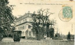 CPA 95 ST GRATIEN CHATEAU DE LA PRINCESSE MATHILDE VUE OUEST  1908 - Saint Gratien