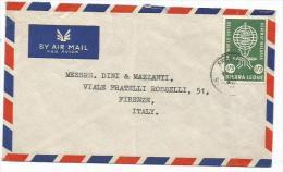 Malaria '62 Sierra Leone 1S3d SOLO Franking Commerce AirmailCV Freetown 11dec1962 X Europe - Disease