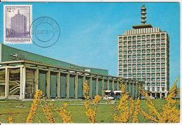 BUCHAREST- STATE TELEVISION, CAR, CM, MAXICARD, CARTES MAXIMUM, 1972, ROMANIA - Cartes-maximum (CM)