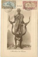 Somalie - Marchands De Cornes - Carte écrite En 1910 , Superbe Et Rare Carte - Somalie