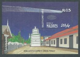 Maldives BF N° 114 XX Passage De La Comète De Halley, Le Bloc Sans Charnière,TB - Maldives (1965-...)