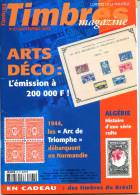 Timbres Magazine N.27 Septembre 2002;Arts Déco,Arc De Triomphe,Ile Féroé,Christophe Colomb,A.Dumas,colonie Algerie - French (from 1941)