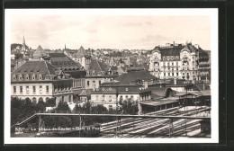 AK La Chaux De Fonds, Gare Et Poste, Bahnhof - NE Neuchâtel