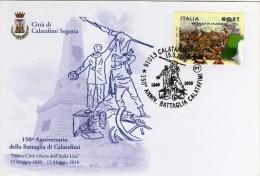Italia 2010 Calatafimi 150° Anniversario Battaglia Di Calatafimi Annullo Su Cartolina Dedicata - Altri