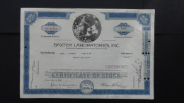 USA - Baxter Laboratories, Inc. - Nr:NU-09394/ 1970 - 500 Shares - Look Scans - Hist. Wertpapiere - Nonvaleurs