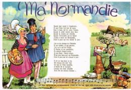 Carte Postale - Ma Normandie - Chanson - De Etretat --> Mont-Saint-Guibert - Europe