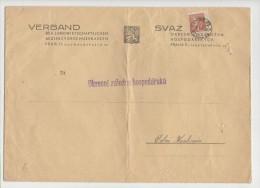 GOOD BOHEMIA & MORAVIA Postal Cover 1944 - Good Stamped: Hitler - Böhmen Und Mähren