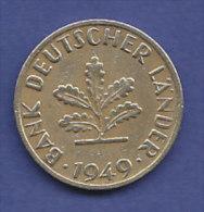 ALLEMAGNE  10 PFENNIG    ANNEE 1949 (LETTRE F  STUTTGARD)   LOT ALL2009 - 10 Pfennig