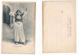 TUNISIE - - EDITEUR F. SOLER CARTE PIONNIERE - FEMME ARABE ( Abimée ) - Tunisie