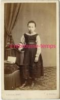 CDV Petite Fille-mode Enfant- Photo A. Duval Rue Royale à Tours - Photographs