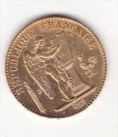 20 Francs Or Type  Génie Troisième République,1890 A,Gadoury 249 état TTB. - Or