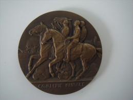 Médaille Bronze Cavalerie Rurale Direction Des Haras Ministère De L´agriculture Artiste Boucha - Unclassified