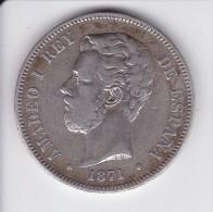 MONEDA DE ESPAÑA DE 5 PTAS DEL AÑO 1871 DE AMADEO I - ESTRELLAS 18-74 (COIN) SILVER-PLATA-ARGENT - [ 1] …-1931 : Reino