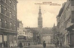 VERVIERS : Rue Ortmans-Hauzeur Et Grande Tour De La Nouvelle Poste - Cachet De La Poste 1912 - Verviers