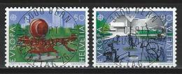 SBK 748-49, Mi 1349-50 ET-Vollstempel - Schweiz