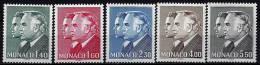 """Monaco YT 1281 à 1285 """" Princes Rainier III Et Albert """" 1981 Neuf** - Monaco"""