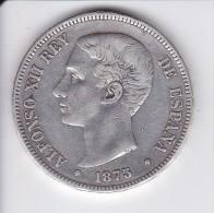 MONEDA DE ESPAÑA DE 5 PTAS DEL AÑO 1875 DE ALFONSO XII - ESTRELLAS DIFUSAS (COIN) SILVER-PLATA-ARGENT - Unclassified